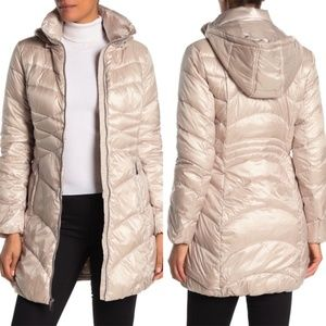 VIA SPIGA Quilted Water Repellent Puffer Jacket
